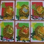 Великодні листівки із серветковими курочками