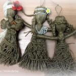 Вузликове плетення на вузликовій ляльці-мотанці