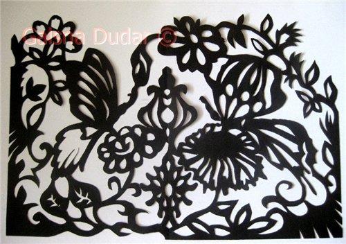 Метелики, квіти, птахи